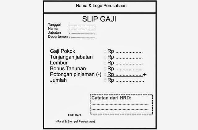 Prosedur Pembayaran Gaji (versi ke 3) dan Form Slip Gaji ...
