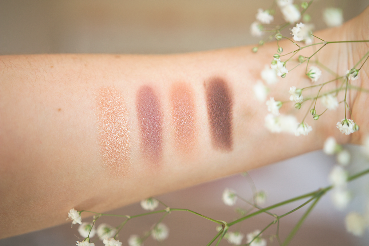 abh quad anastasia beverly hills single shadows quad review and swatches dusty rose sateen birkin fudge swatches