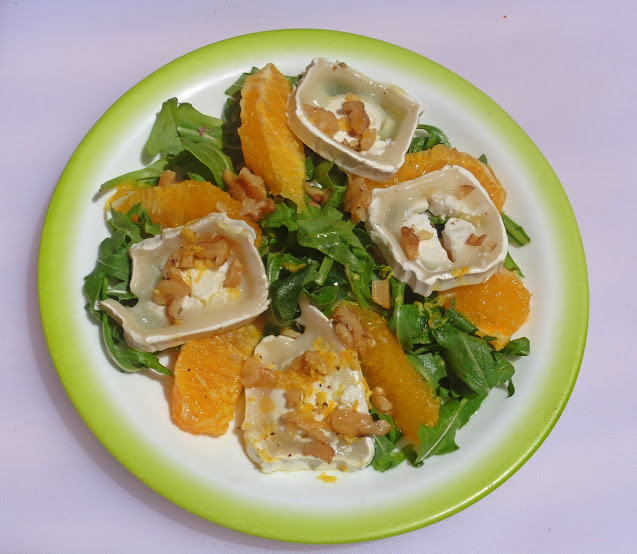 Goat Cheese, Walnuts, Orange, Salad, Recipe