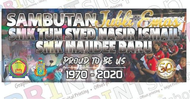 Sambutan Jubli Emas 50 Tahun SMK Tun Syed Nasir Ismail | SMK Majidi Baru 1970-2020