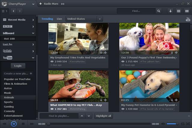 تحميل برنامج شيرى بلاير CherryPlayer لشيغل ملفات الفيديو والصوت والإستماع للمحطات الإداعية عبر العالم للويندوز مجانا