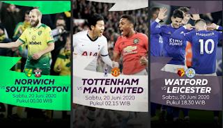 Link Live Streaming Tottenham Hotspur vs Manchester United, June 20, 2020