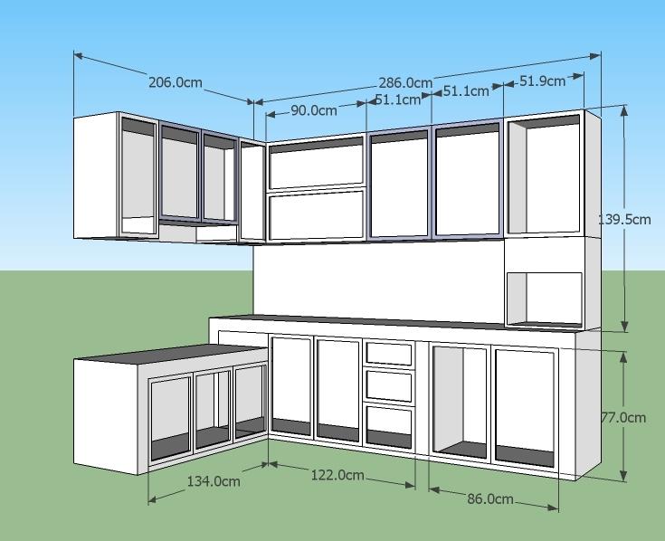 Tips penting perencanaan pembuatan kitchen set kitchen for Gambar kitchen set aluminium