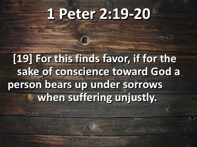 For it is commendable if someone bears up under the pain of unjust suffering because they are conscious of God.