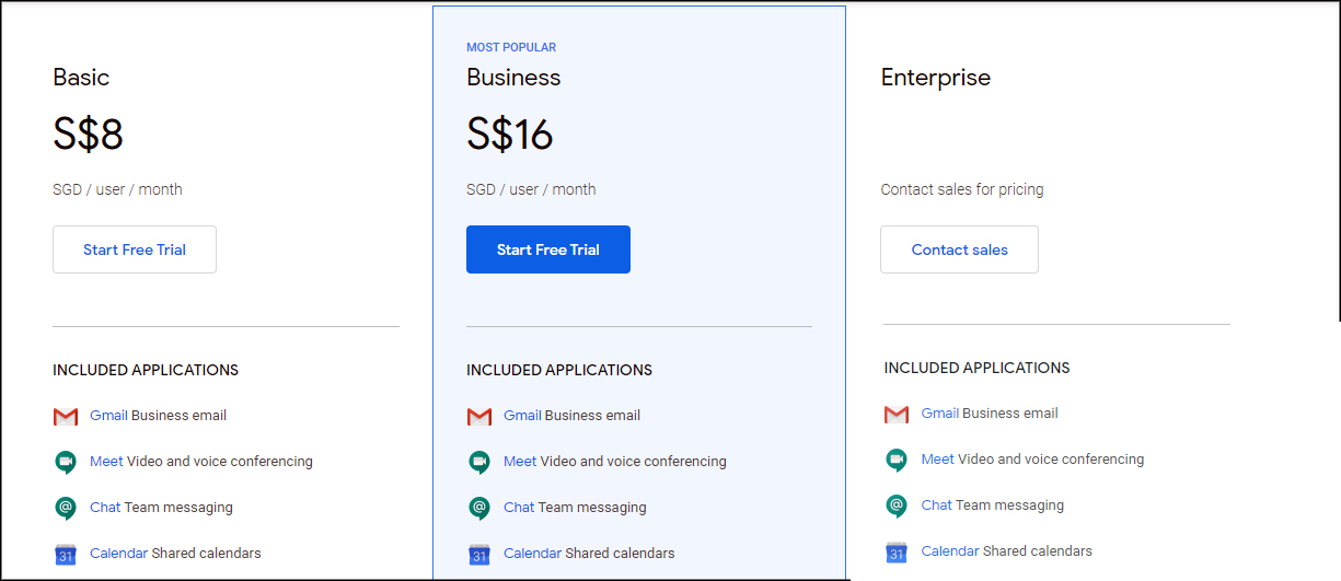 GSuite Pricing and Plans