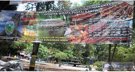 Setelah Viral Harga Tak Wajar Di Jepara, Disparbud Jepara Kini Sudah Pasang Tarif Makanan dan Minuman di Lokasi Wisata