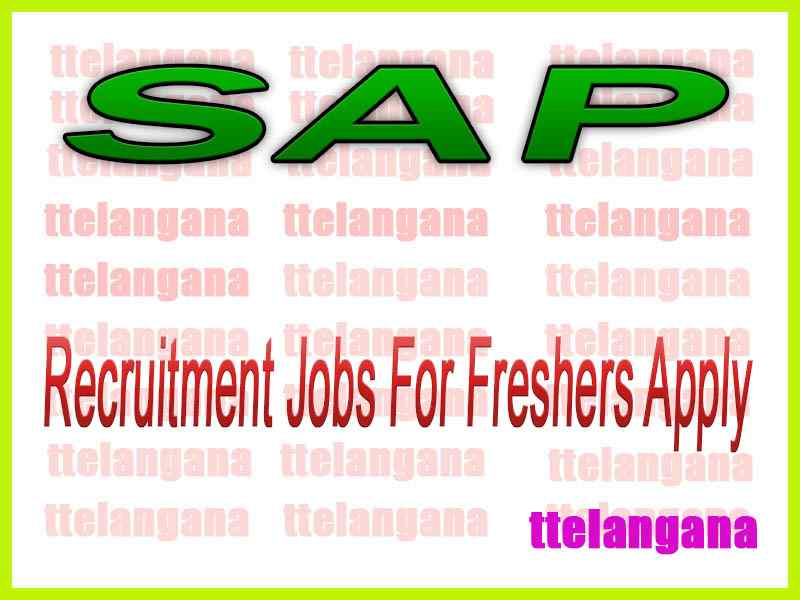 SAP Recruitment Jobs For Freshers Apply