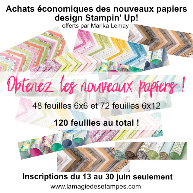 achats groupés papier design Stampin' Up!