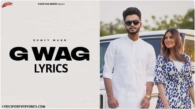 G Wag Lyrics