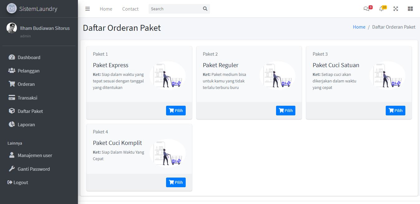 Aplikasi Managemen Laundry Berbasis Web - Source Code