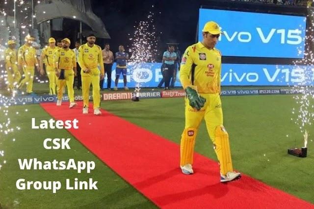 [Latest] 100+ CSK Whatsapp Group Link - Chennai Super Kings Whatsapp Group Link