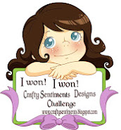 Winner Crafty Sentiments Challenge