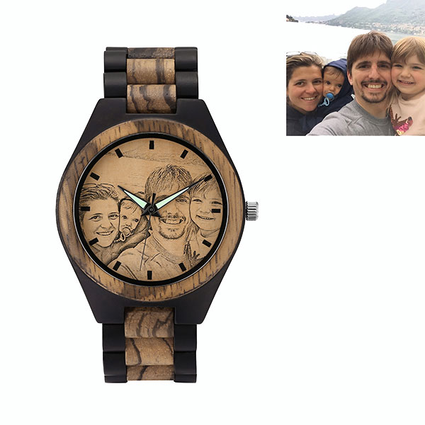 personalised wooden watch from getnamenecklace