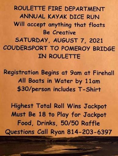 8-7 Kayak Dice Run, Roulette VFD
