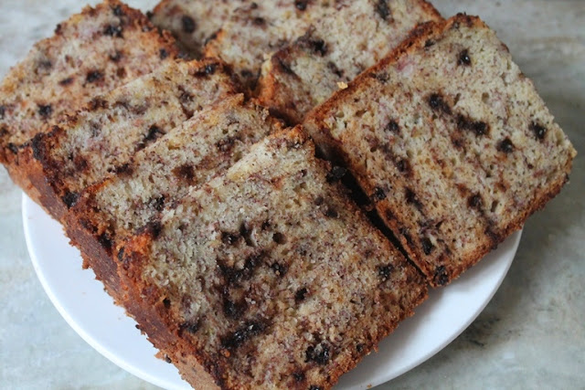 Chocolate Chip Banana Bread Recipe - Banana Chocolate Chip Loaf Recipe