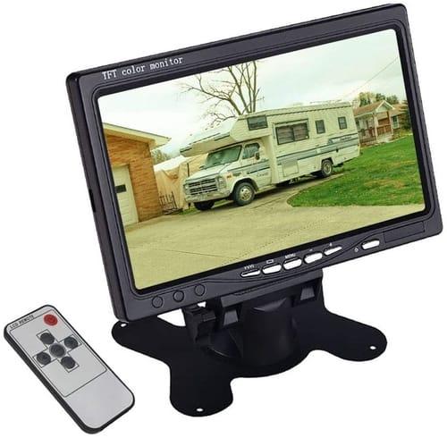 HUINETUL 7 inch Car Backup Rear View Camera Monitor