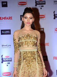 Urvashi Rautela in Golden Dress 2016