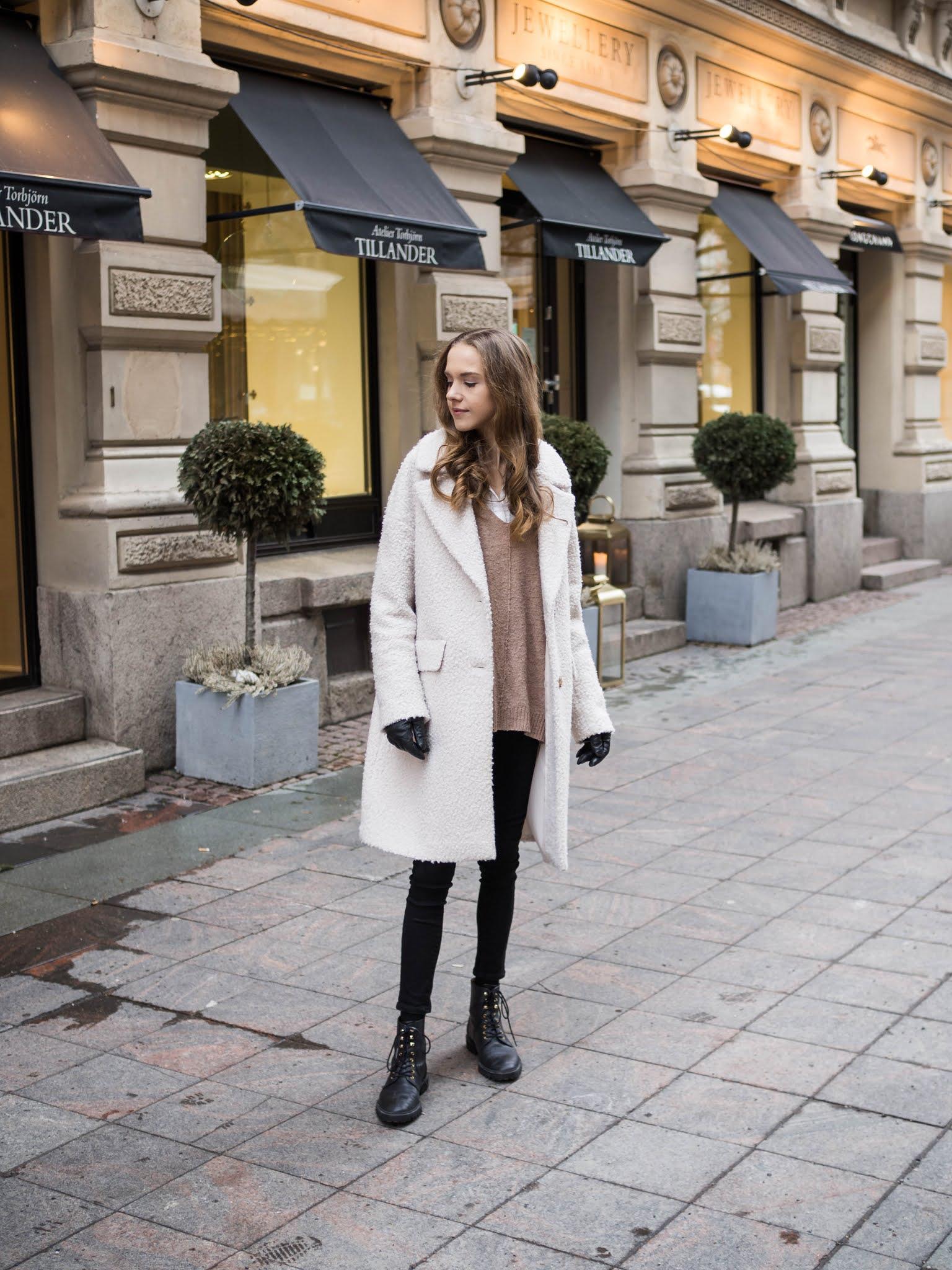 Muoti-inspiraatiota talveksi: valkoinen teddytakki // Fashion inspiration for winter: white teddy coat