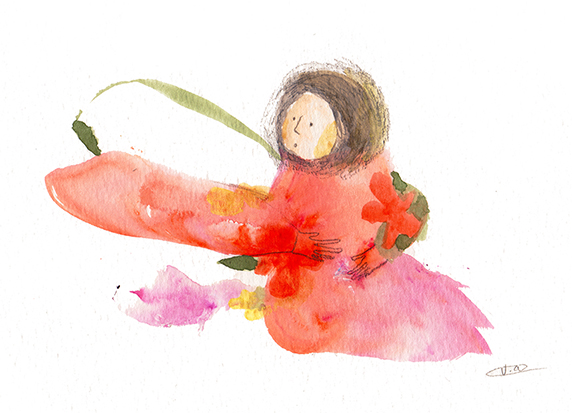 Vicky Alvarez - ´´arms´´  whimsical watercolour art