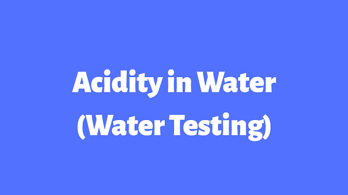 Acidity in Water