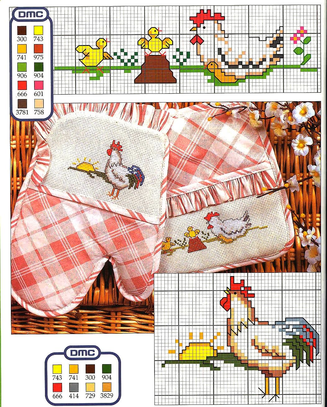 Grande raccolta di schemi e grafici per punto croce free disegni punto a croce per canovacci e - Guanti da cucina ...