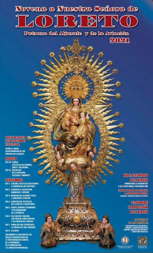Cartel de cultos de Nuestra Señora de Loreto, Patrona del Aljarafe y de Aviación 2021