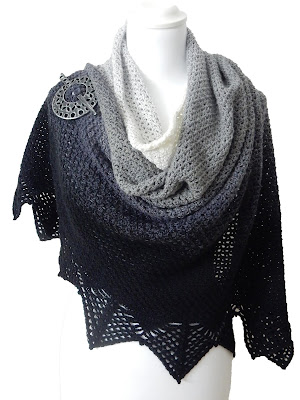 Lunation Shawl Crochet Pattern The Curio Crafts Room Etsy Ravelry
