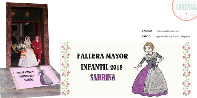 Alfombra para el portal Fallera Mayor Infantil