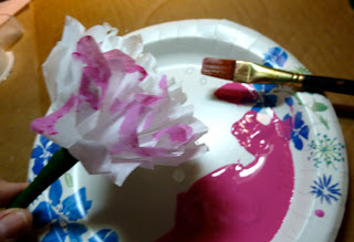 Coffee filter carnation pens