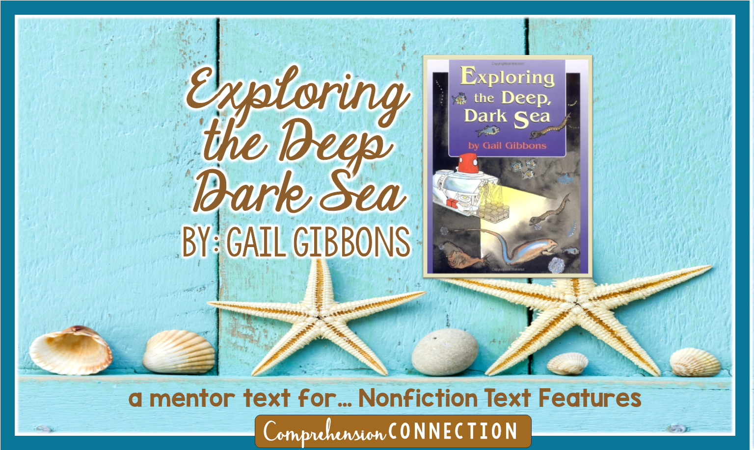 If you teach oceanography, Exploring the Deep Dark Sea is a great choice for explaining ocean concepts such as the ocean floor and animal adaptations.Check out this freebie you can use with the book as well as other great mentor text lessons.
