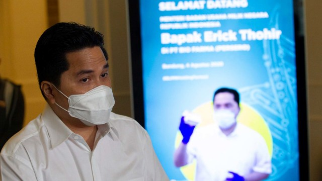 Erick Sebut Harga Vaksin Corona Mekanisme Pasar, Kasus Masker Bisa Terulang