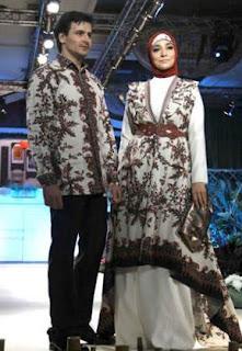 Model Baju Batik Kombinasi Dengan Kain Polos Untuk Seragam