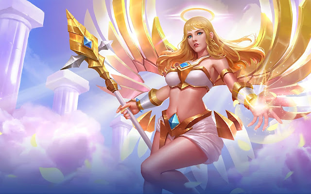 Rafaela Wings of Holiness Heroes Support of Skins Mobile Legends Wallpaper HD for PC