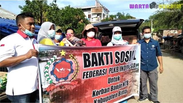 Peduli Korban Banjir Bima, Federasi PLKB Indonesia Salurkan Sejumlah Bantuan