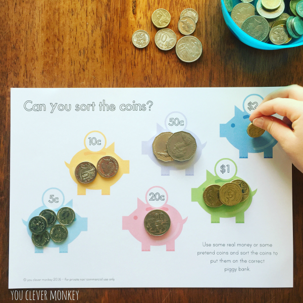 Teaching Australian Money - classroom ideas and ready to print resources perfect for teaching Australian coins in hands on play | you clever monkey