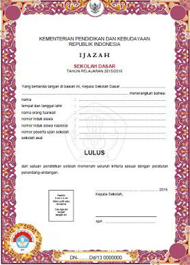 Download Contoh Format Blangko Ijazah dan SKHUN