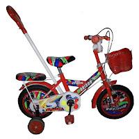 12 morison ms1251-7 racer bmx tongkat dorong kemudi sepeda anak