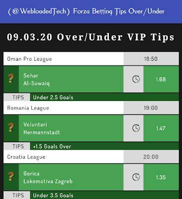 Forza Betting Tips Over/Under v1.0 Apk screenshots