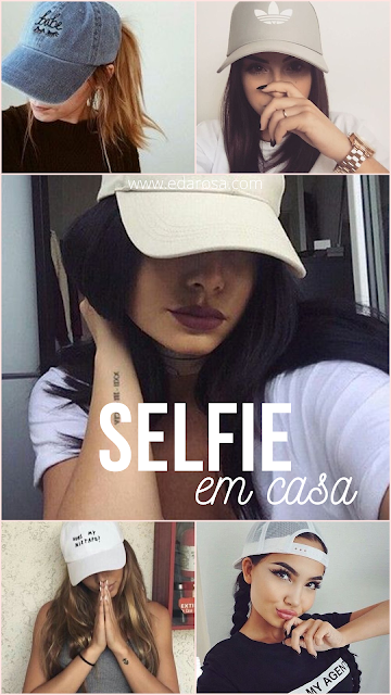 selfies de boné como fazer