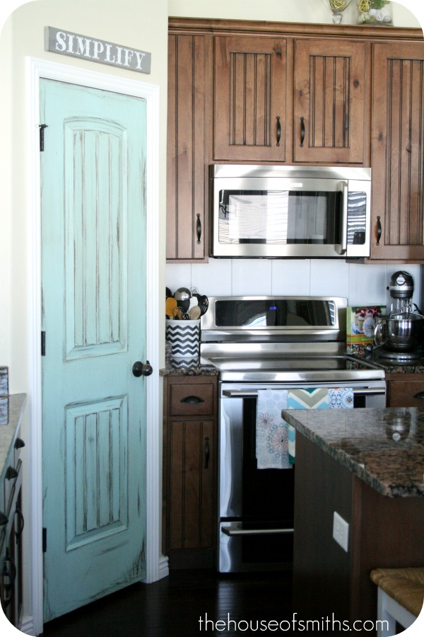 Pretty Painted Pantry Door