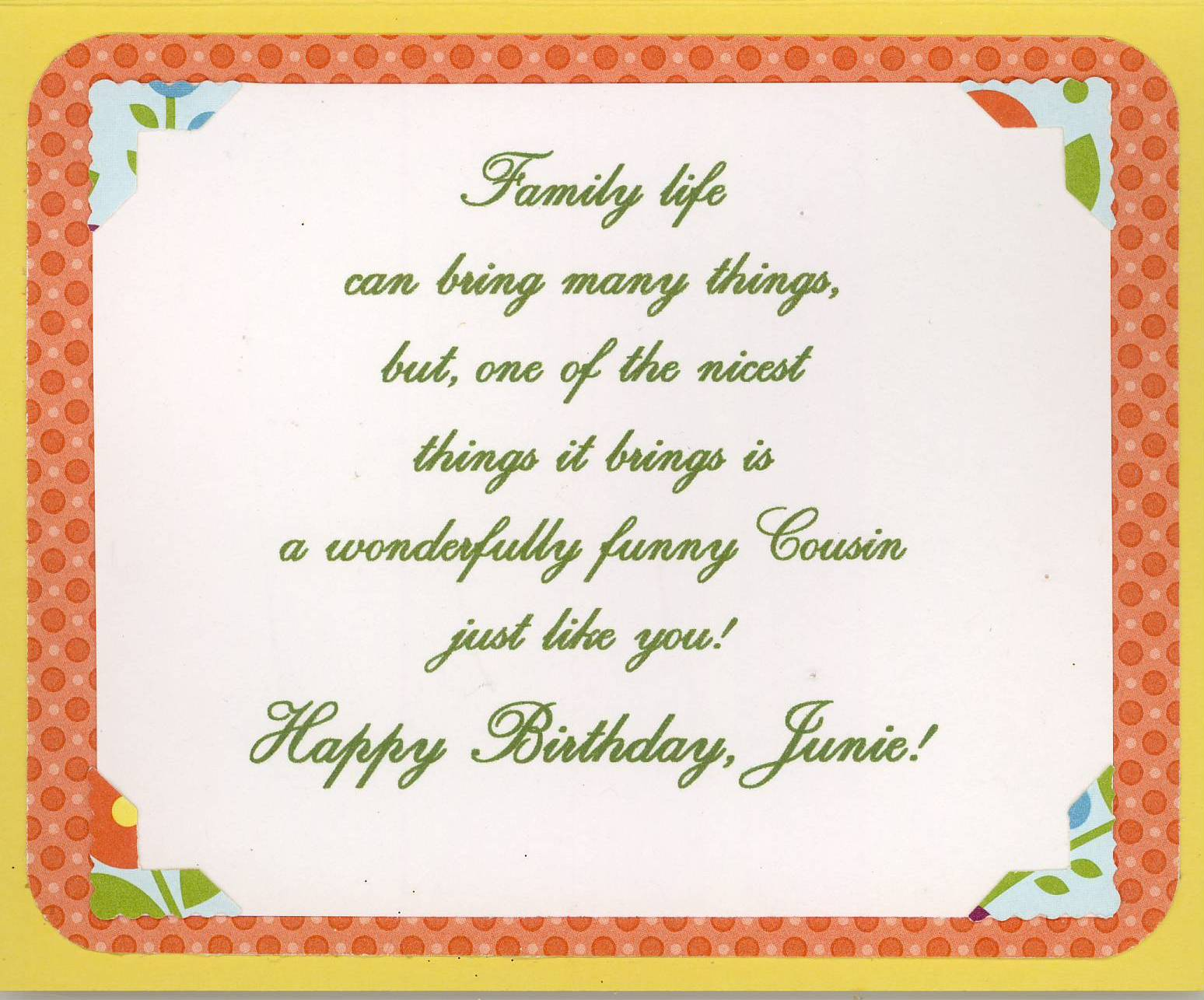 My Cousin Junie Has A Birthday In July I Decided To Make Her Summery Card From Stampin Up Class Designed And Taught By Sister