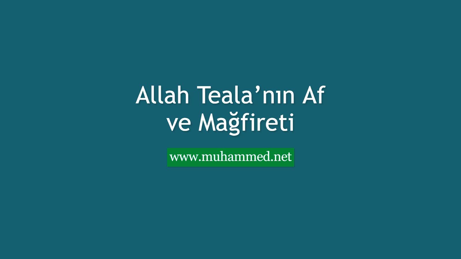 Allah Teala'nın Af ve Mağfireti