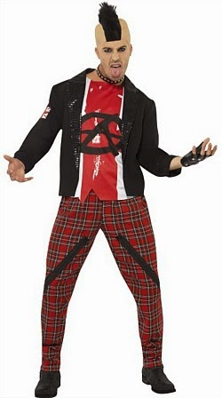 Mens Punk Anarchist Costume