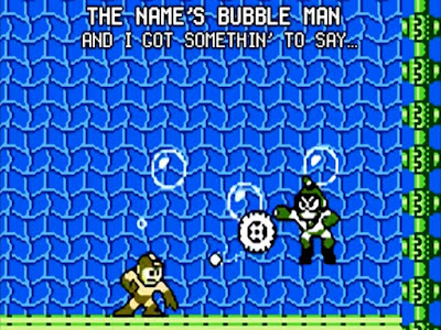 Bubble Man Mega Man 2 Duane BrandO rap wrap
