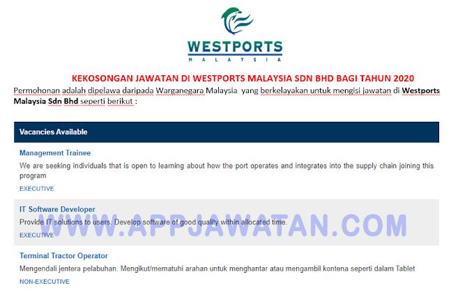Jawatan Kosong Terkini di Westports Malaysia Sdn Bhd.