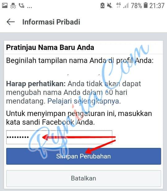 cara membuat nama fb kosong tanpa nama dengan kode font blank facebook lite