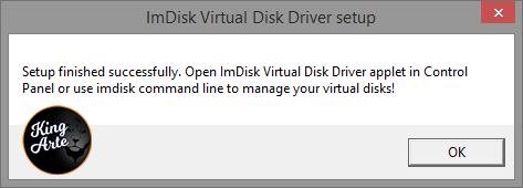 Instalação do ImDisk