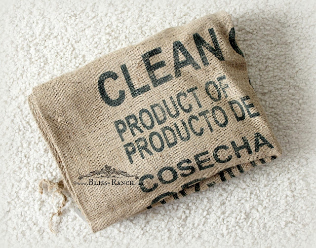Burlap Coffee Sack, Bliss-Ranch.com
