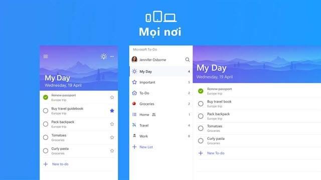 Tạo danh sách việc cần làm trong ngày với ứng dụng Microsoft To-Do cho Windows 10 PC