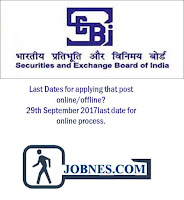 Securities and Exchange Board of India (SEBI) 2017  for various posts  apply online here
